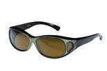 Fitover Overzetzonnebril Sonnen Überbrillen Opaque-Brown