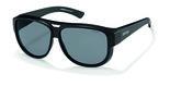 Overzet zonnebril Aviator Black suncover