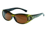 Fitover Overzetzonnebril, Sonnenüberbrille Tiger green