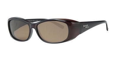 Fitover sunglasses Overzet zonnebril Sonnen Überbrillen Shield brown