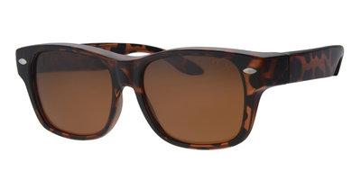 Overzet zonnebril New York havanna (l/xl)
