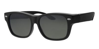Overzet zonnebril New York black shiny (l/xl)