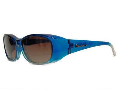 Overzet zonnebril Sonnen Überbrillen Shield blue