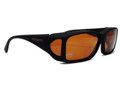Lowvision Fitover  (model: C422H) Overzet bril überbrille Hazelnut