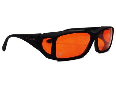 Lowvision Fitover Overzet bril überbrille Orange (model: C422H)