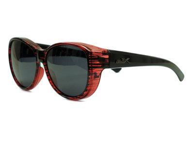 Fitover Overzetzonnebril Sonnen Überbrillen Olive Red (Model: POL506)