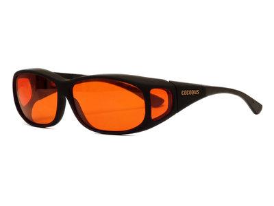 Lowvision Fitover Overzet bril überbrille Orange M (Model C412O)
