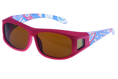 Fitover Overzetzonnebril, Sonnenüberbrille Guardian red (XS)