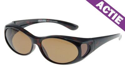 Fitover Overzetzonnebril Sonnenüberbrille Tortoise (model: WT2)