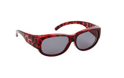 Fitover Overzetzonnebril, Sonnenüberbrille Retro Tortoise Red (model: 9181-02)