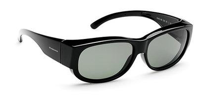 Overzetzonnebril Sonnenüberbrille Retro black