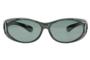 Fitover sunglasses Overzet zonnebril Sonnen Überbrillen Fitover Grey metallic front