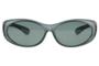 Fitover sunglasses Overzet zonnebril Sonnen Überbrillen Fitover matte grey front