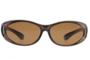 Fitover sunglasses Overzet zonnebril Sonnen Überbrillen Fitover Bronze metallic front